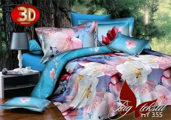 Комплект постельного белья XHY355  ПОСТЕЛЬНОЕ БЕЛЬЕ ТМ TAG > Семейные > Поликоттон 3D