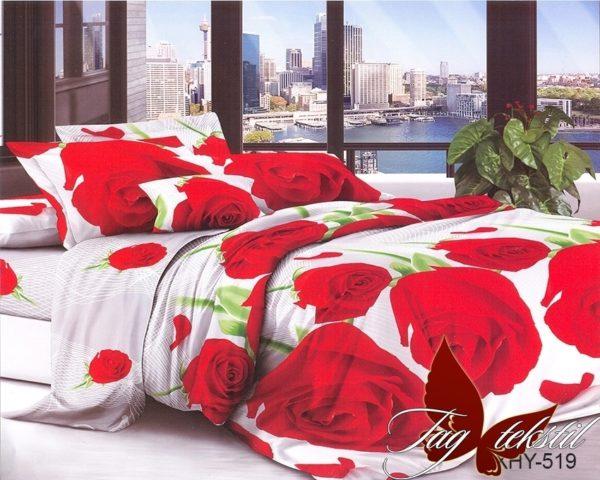 Комплект постельного белья XHY519  ПОСТЕЛЬНОЕ БЕЛЬЕ ТМ TAG > Семейные > Поликоттон 3D