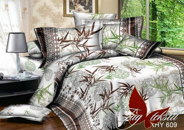 Комплект постельного белья XHY609  ПОСТЕЛЬНОЕ БЕЛЬЕ ТМ TAG > Семейные > Поликоттон 3D