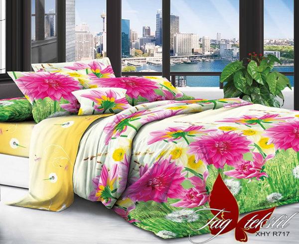 Комплект постельного белья XHY717  ПОСТЕЛЬНОЕ БЕЛЬЕ ТМ TAG > Семейные > Поликоттон 3D
