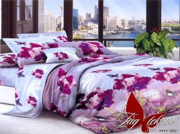 Комплект постельного белья XHY982  ПОСТЕЛЬНОЕ БЕЛЬЕ ТМ TAG > Семейные > Поликоттон 3D
