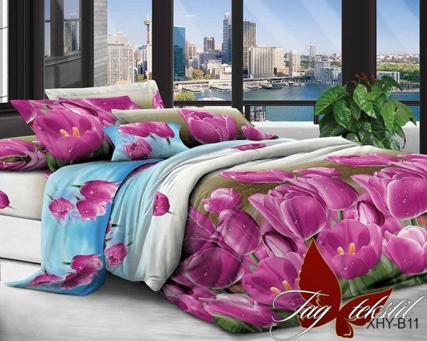Комплект постельного белья XHYB11  ПОСТЕЛЬНОЕ БЕЛЬЕ ТМ TAG > Семейные > Поликоттон 3D