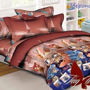 Комплект постельного белья Зверополис  ПОСТЕЛЬНОЕ БЕЛЬЕ И ТОВАРЫ ДЛЯ ДЕТЕЙ > 1.5-спальные 160х220