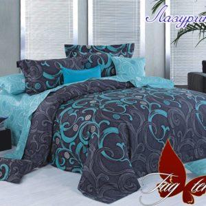 Комплект постельного белья с компаньоном Лазурит  ПОСТЕЛЬНОЕ БЕЛЬЕ ТМ TAG > 1.5-спальные > Ренфорс
