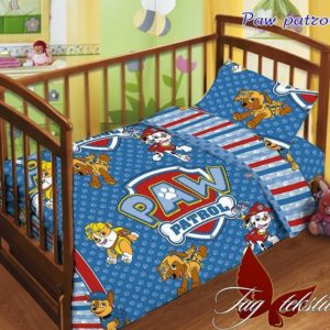 Детский комплект Paw patrol  ПОСТЕЛЬНОЕ БЕЛЬЕ И ТОВАРЫ ДЛЯ ДЕТЕЙ > Комплекты в кроватку с простынью на резинке