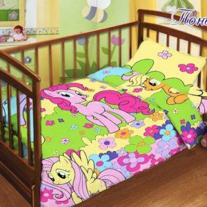 Детский комплект Пони  ПОСТЕЛЬНОЕ БЕЛЬЕ И ТОВАРЫ ДЛЯ ДЕТЕЙ > Комплекты в кроватку с простынью на резинке