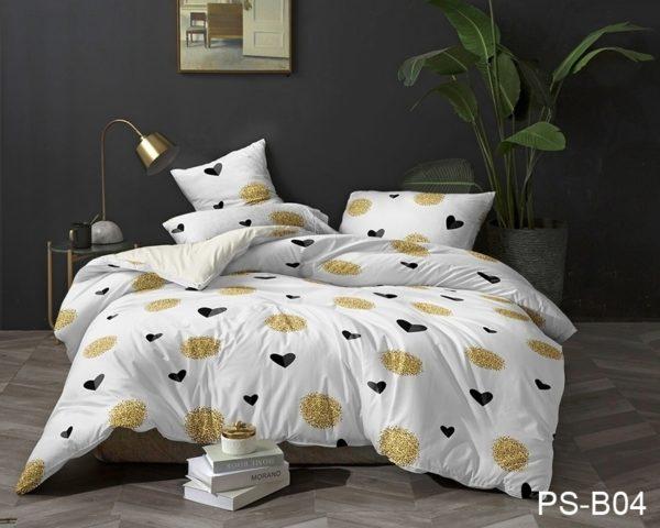 Комплект постельного белья PS-B04  ПОСТЕЛЬНОЕ БЕЛЬЕ ТМ TAG > Семейные > Полисатин 3D