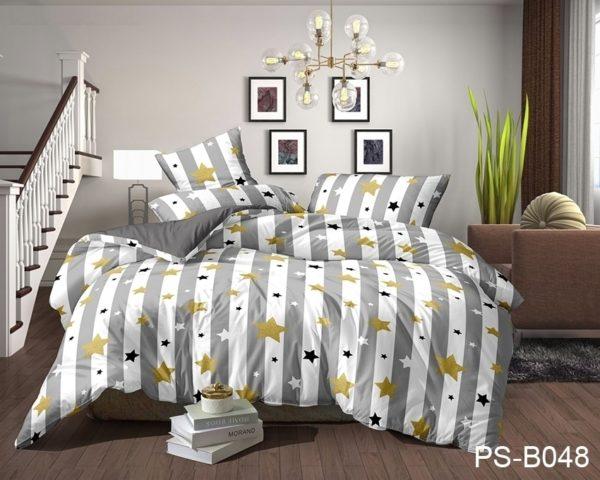 Комплект постельного белья PS-B048  ПОСТЕЛЬНОЕ БЕЛЬЕ ТМ TAG > 2-спальные > Полисатин 3D
