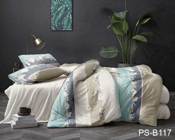 Комплект постельного белья PS-B117  ПОСТЕЛЬНОЕ БЕЛЬЕ ТМ TAG > Семейные > Полисатин 3D