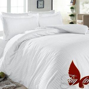 Комплект постельного белья Белый в полоску  ПОСТЕЛЬНОЕ БЕЛЬЕ ТМ TAG > 2-спальные > Ренфорс