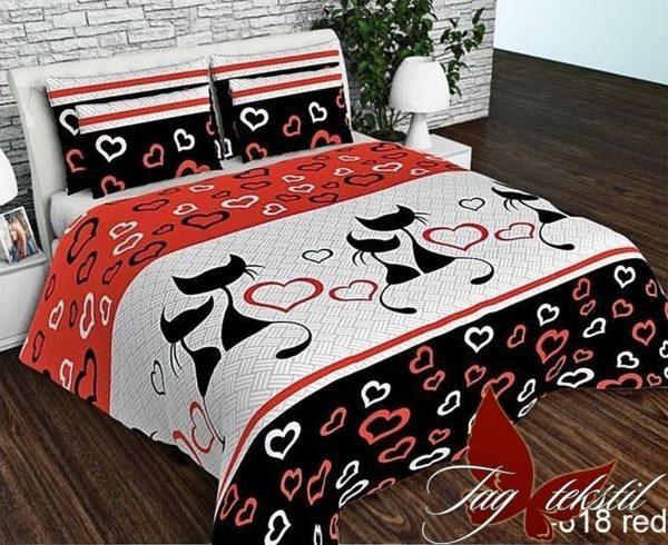 Комплект постельного белья R618red  ПОСТЕЛЬНОЕ БЕЛЬЕ ТМ TAG > 2-спальные > Ренфорс