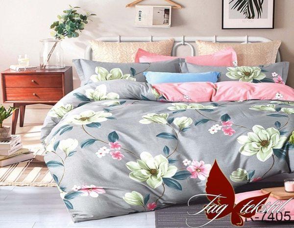 Комплект постельного белья с компаньоном R7405  ПОСТЕЛЬНОЕ БЕЛЬЕ ТМ TAG > 2-спальные > Ренфорс