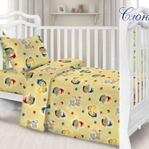 Детский комплект Слоник  ПОСТЕЛЬНОЕ БЕЛЬЕ И ТОВАРЫ ДЛЯ ДЕТЕЙ > Комплекты в кроватку с простынью на резинке