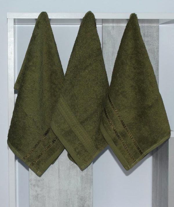 Набор полотенец 30х50 (3 шт) зелен.  Кухонные полотенца