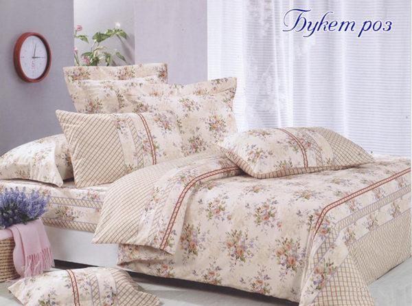 Комплект постельного белья Букет роз  ПОСТЕЛЬНОЕ БЕЛЬЕ ТМ TAG > 2-спальные > Ренфорс