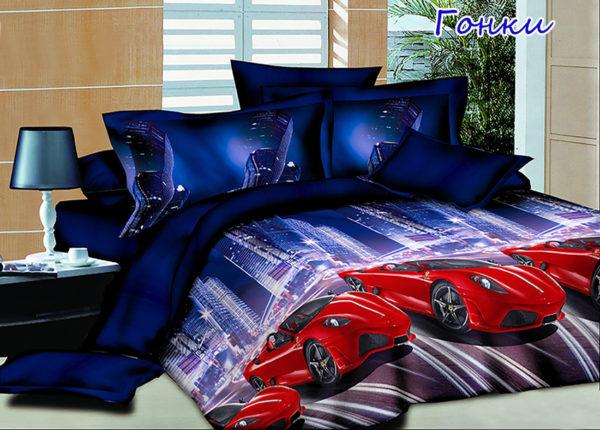 Комплект постельного белья Гонки  ПОСТЕЛЬНОЕ БЕЛЬЕ И ТОВАРЫ ДЛЯ ДЕТЕЙ > 1.5-спальные