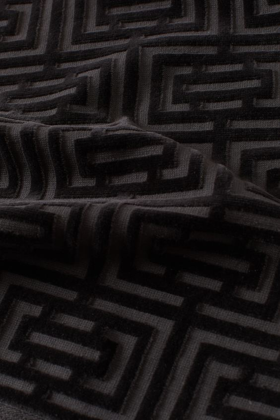 Полотенце махровое Labirint черное 30х50 1 Постельный комплект