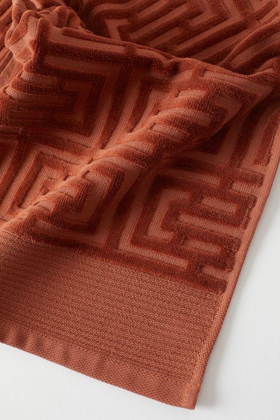 Полотенце махровое Labirint терракот 30х50 1 Постельный комплект