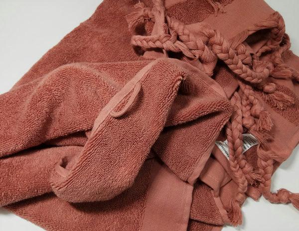 Полотенце махровое Косичка лиловое 1 Постельный комплект