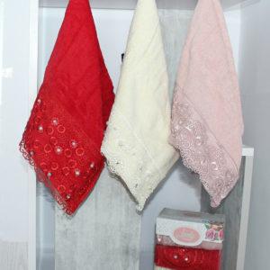 Набор полотенец Lovely кружева (3 шт)  Полотенца > Наборы полотенец