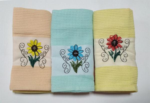 Набор полотенец Цветок 2 (6 шт) 1 Постельный комплект