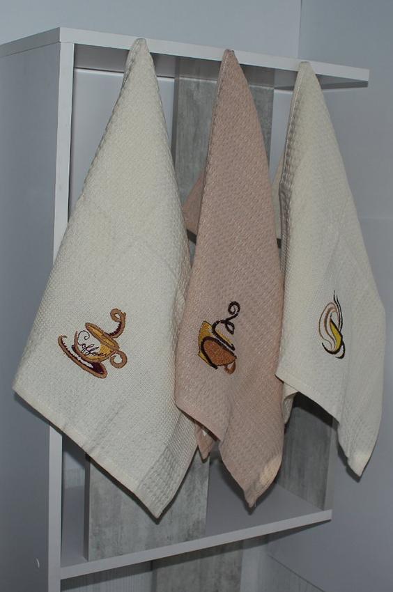 Набор полотенец Кофе (12 шт)  Кухонные полотенца