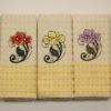 Набор полотенец Цветок/желт. клетка (6 шт) 2 Постельный комплект