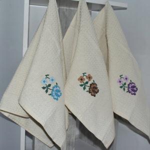 Набор полотенец Цветок (12 шт)  Кухонные полотенца