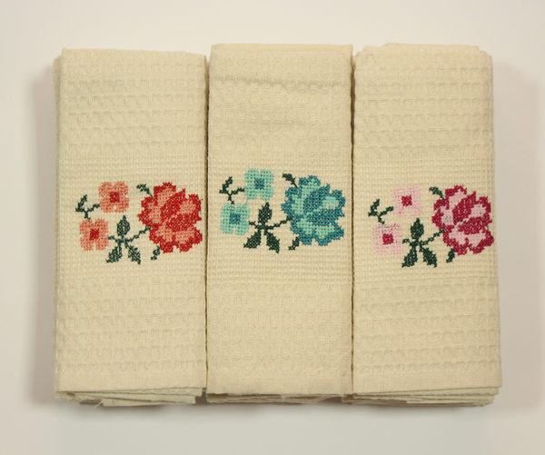 Набор полотенец Цветок (12 шт) 1 Постельный комплект