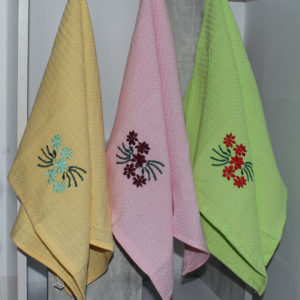 Набор полотенец Цветы в ассорт. (12 шт)  Кухонные полотенца