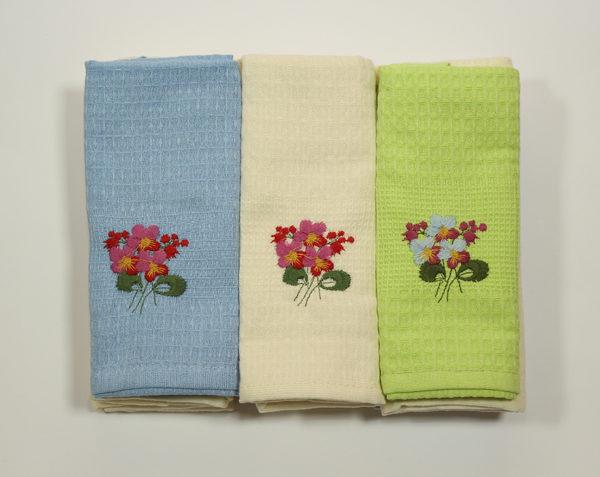 Набор полотенец Цветы в ассорт. (12 шт) 1 Постельный комплект
