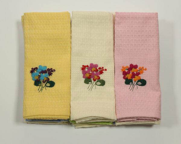 Набор полотенец Цветы в ассорт. (12 шт) 2 Постельный комплект