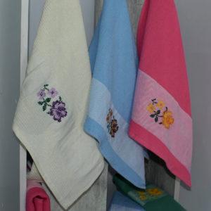 Набор полотенец Букет в ассорт. (6 шт)  Кухонные полотенца