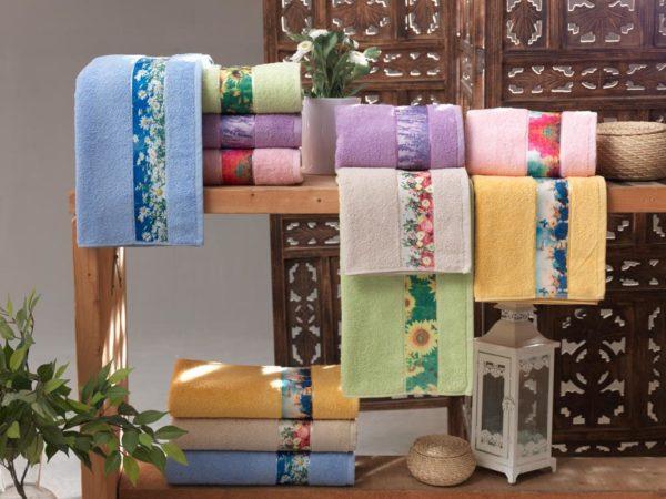 Полотенце махровое Весна голубое 50х90 2 Постельный комплект