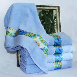 Полотенце махровое Весна голубое 70х140  Полотенца > 70*140 от 1 ед