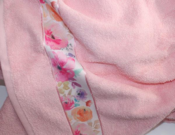 Полотенце махровое Весна розовое цветы 70х140 1 Постельный комплект