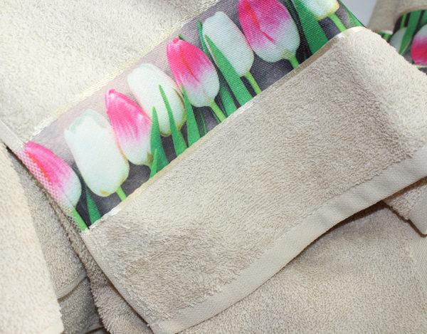 Полотенце махровое Весна бежевое 70х140 1 Постельный комплект