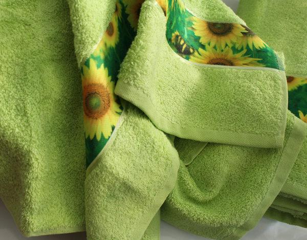 Полотенце махровое Весна зелен. подсолнух 50х90 1 Постельный комплект
