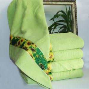 Полотенце махровое Весна зелен. подсолнух 50х90  Полотенца > 50*90 от 1 ед