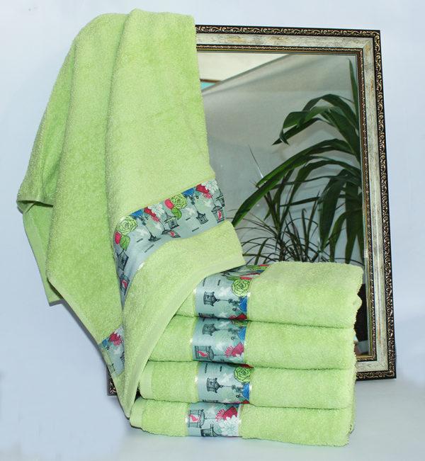 Полотенце махровое Весна зелен. фонарик 50х90  Полотенца > 50*90 от 1 ед