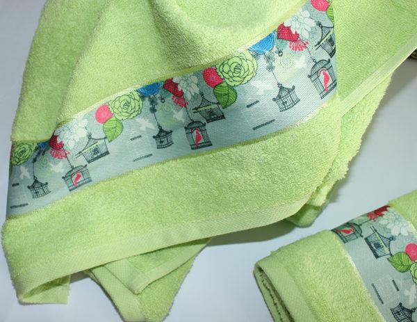 Полотенце махровое Весна зелен. фонарик 50х90 1 Постельный комплект