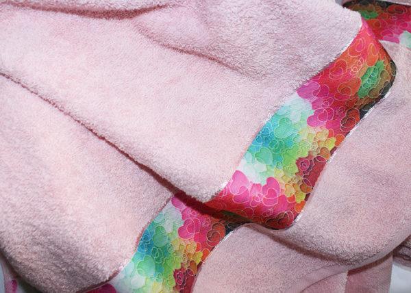 Полотенце махровое Весна розовое сердца 70х140 1 Постельный комплект