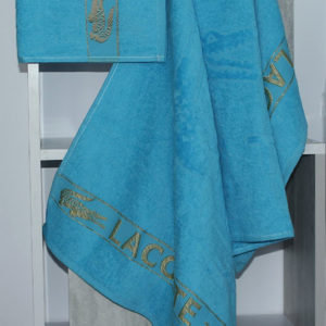 Полотенце махровое Lacoste голубое  Полотенца > 50*90 от 1 ед