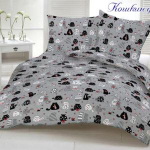 Комплект постельного белья Кошкин дом  ПОСТЕЛЬНОЕ БЕЛЬЕ ТМ TAG > 2-спальные > Ренфорс