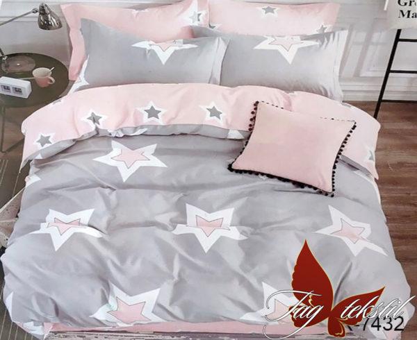 Комплект постельного белья с компаньоном R7432  ПОСТЕЛЬНОЕ БЕЛЬЕ ТМ TAG > 2-спальные > Ренфорс