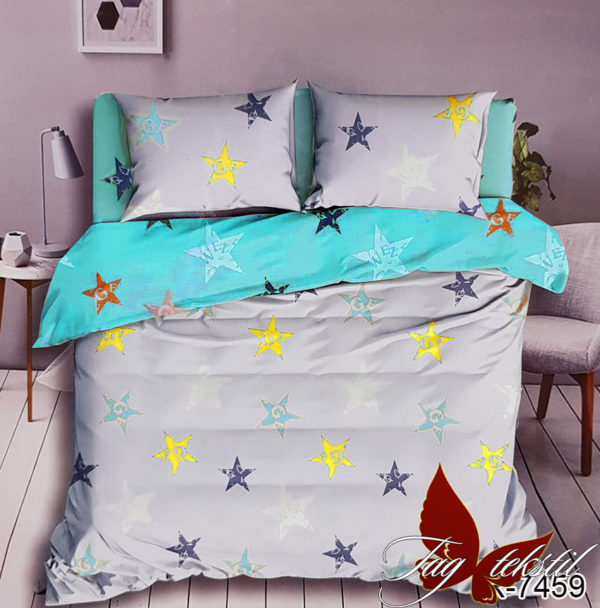 Комплект постельного белья с компаньоном R7459  ПОСТЕЛЬНОЕ БЕЛЬЕ ТМ TAG > 1.5-спальные > Ренфорс