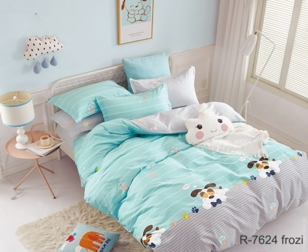 Комплект постельного белья с компаньоном R7624 frozi  ПОСТЕЛЬНОЕ БЕЛЬЕ ТМ TAG > 2-спальные > Ренфорс