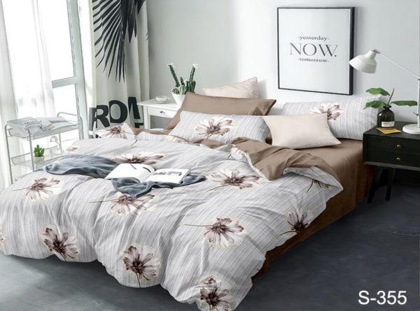 Комплект постельного белья с компаньоном S355  ПОСТЕЛЬНОЕ БЕЛЬЕ ТМ TAG > 2-спальные > Сатин люкс ТМ TAG