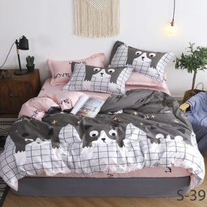 Комплект постельного белья с компаньоном S397  ПОСТЕЛЬНОЕ БЕЛЬЕ ТМ TAG > 2-спальные > Сатин люкс ТМ TAG