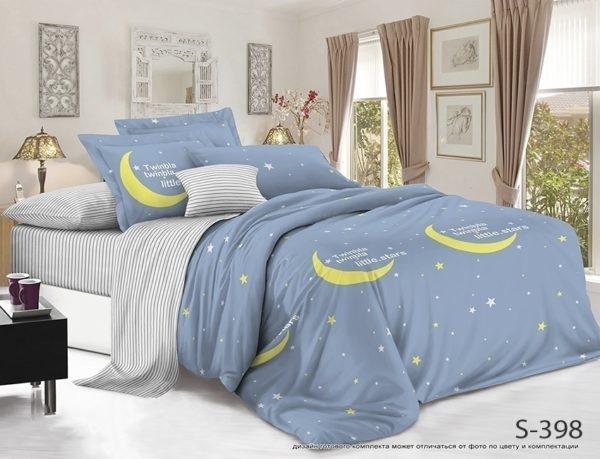 Комплект постельного белья с компаньоном S398  ПОСТЕЛЬНОЕ БЕЛЬЕ ТМ TAG > 2-спальные > Сатин люкс ТМ TAG